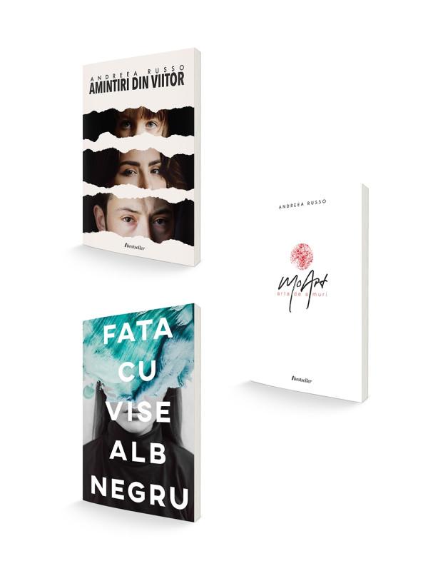 "Pachet Andreea Russo ""Amintiri din Viitor"", ""Fata cu vise alb-negru"" și ""MoArt"""