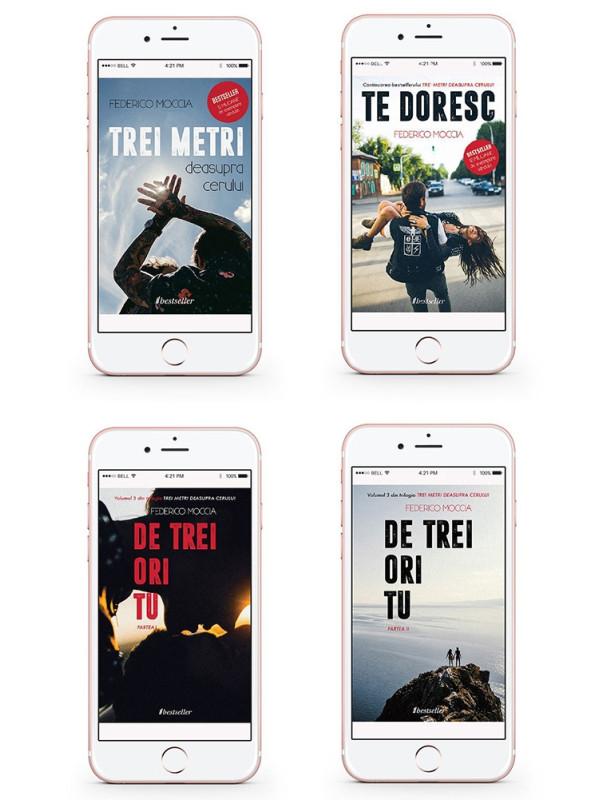 """Seria Completă de 4 cărți """"Trei metri deasupra cerului"""" [Cărți electronice]"""